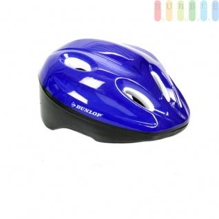 Kinderhelm Fahrradhelm für Kinder, Schutzhelm universell anpassbar durch 18 Schaumstoff-Pads in diversen Stärken, Farbe blau