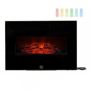 Wandkamin mit Holzfeuersimulation von CLASSICFIRE, kompaktes Design, 2 Heizstufen, 230V/1800-2000W, Breite 66 cm