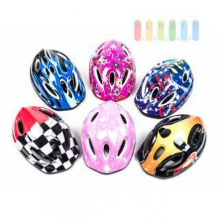 Kinderfahrradhelm für Radfahrer, Skater, Eisläufer und Skateboarder, entspricht DIN EN 1078, lieferbar in 6 Designs