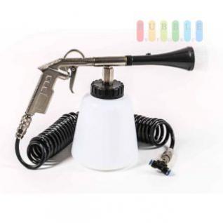 Druckluft-/Flüssigkeit-Reinigungsset ALL Ride für LKW, Druckluftanschluss, Sprühpistole mit Pinseldüse, Tank (1 L), T-Stück und Spiralschlauch, 5 m