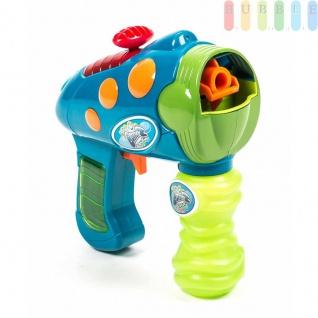 Wasser-Seifenblasen-Pistole mit Seifenblasenflüssigkeit, Reichweiteüber4m, Farbe Blau