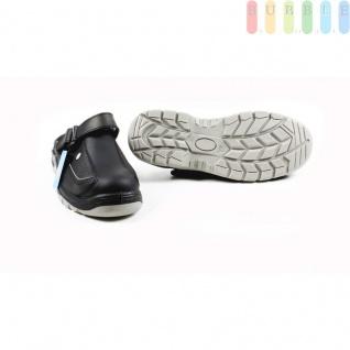 Clogs Sicherheits-Sandale von ALL Ride, Sicherheitsschuh mit Klettverschluss, schwarz/grau, Größe 43 - Vorschau 4