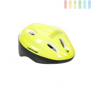 Kinderhelm Fahrradhelm für Kinder, Schutzhelm universell anpassbar durch 18 Schaumstoff-Pads in diversen Stärken, Farbe gelb