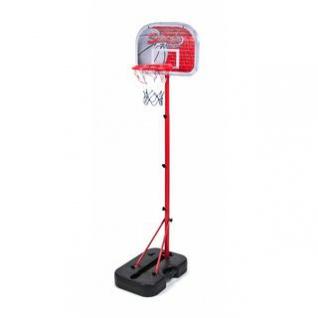 Anfänger-Basketballkorb-Set für Kinder mit Ständer, Ball und Pumpe, klappbar, Koffer-Design, befüllbar, Wasser- /Sand, mobil, Spielhöhe 138 cm
