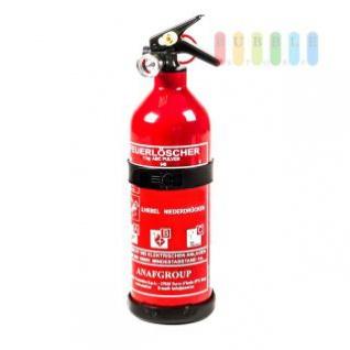 ABC-Pulver-Feuerlöscher klein ANAFGROUP mit Druckanzeige und Sicherungsring, 5A 34B C, DIN EN 3/ÖNORM EN 3, 1 kg