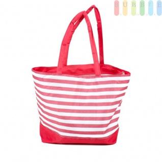 Strandtasche mit Reißverschluss und 2 Tragegriffen, wasserdicht, abwaschbar, platzsparende Aufbewahrung, Größe ca. 48 x 16 x 35 cm, Farbe Rot