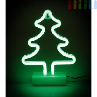 Neon LED-Weihnachtsbaum von ALL Ride, mit Ständer, doppelseitigem Klebepad, für LKW, PKW, Wohnmobil, Kabel mit Stecker für Zigarettenanzünderbuchse, 12-24 Volt, Höhe ca. 29, 5 cm - Vorschau 2