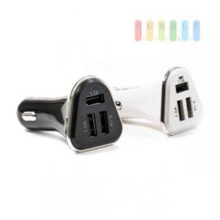USB-Adapter/-Ladegerät ALL Ride für Zigarettenanzünder mit 3 USB-Buchsen, 12/24V, 5V/4, 1A, lieferbar in den Farben Schwarz oder Weiß