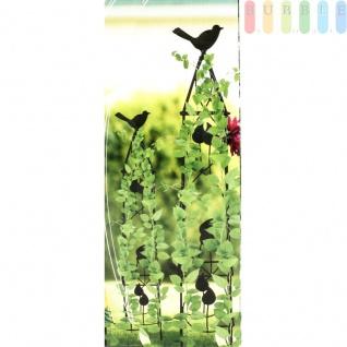 Rankhilfe für Kletterpflanzen in 2 Größen mit Deko-Vogel von Lifetime Garden, Obelisk-Kletterhilfe für den Garten, Metall, schwarz, Höhe ca. 71, 5 cm / 91 cm - Vorschau 2