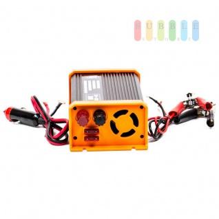 Spannungswandler / Inverter ALL Ride Zigarettenanzünder- und Batterie-Anschluss, Schuko-Steckdose, USB-Buchse, 24V/DC auf 230V/AC, 300W - Vorschau 2
