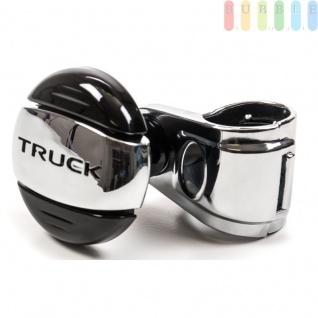 """Lenkradknauf All Ride """" Truck"""", chrom/schwarz"""