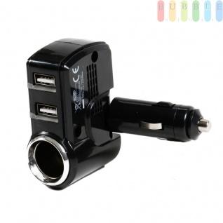 Steckdose mit 2-fach USB-Stecker von All Ride für PKW und LKW, LED-Anzeige für Ladestatus, 90° Gelenk, 12/24V, max. 5A - Vorschau 1