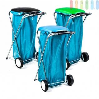 Müllsackständer, mobil, Doppelrahmen, Säcke von 60 bis 130 l Volumen, lieferbar in den Farben Schwarz, Grün oder Blau - Vorschau 3