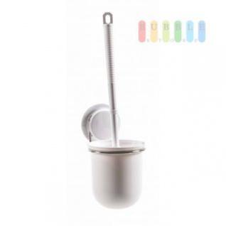 Toilettenbürste mit Halter von Alpina, Montage mit Saugnapf oder Montageplatte, Belastung max. 5 kg, Größe 11 x 25 x 7, 5 cm
