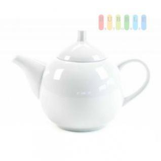 Teekanne von Alpina aus Keramik, formschön, Design zeitlos, stilvoll, Volumen ca. 1 Liter, weiß