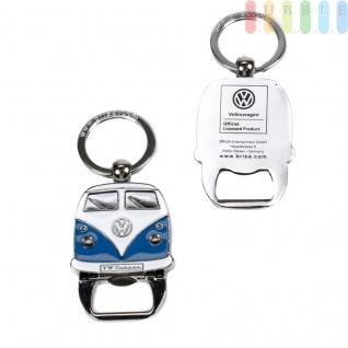 VW T1 Bus Schlüsselanhänger mit Flaschenöffner, Front-Design, Sammlerstück aus VW-Kollektion, Zink-Aluminium vernickelt, emailliert, blau - Vorschau 3