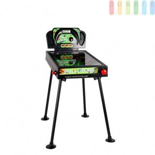 Elektronischer Flipperautomat, Pinball für Kinder 2 in 1, Tischflipper mit Sound und Licht-Funktion, Zähleranzeige digital, Bumper gefedert, 4 Flipper, An/Aus-Schalter
