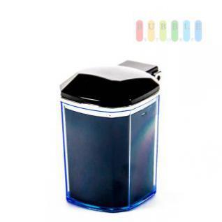 Aschenbecher ALL Ride für Getränkehalter als Mini-Mülltonne, blau beleuchtet, Batterie austauschbar