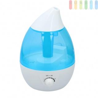 Luftbefeuchter mit 7 LEDs im Farbwechsel, max. 2, 7 Liter Wasser, Automatik-Abschaltung, für gesundes Raumklima, stufenloser Wasserdampf von 0 - 25 W, für 20 - 35 qm, 100 - 240V