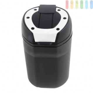 Aschenbecher als Mini-Mülltonne von Allride, für Getränkehalter oder Magnet-Halterung, flexibel, schwarz - Vorschau 4