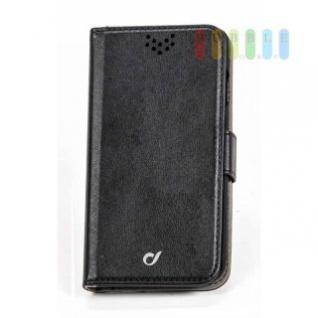 Handytasche für ein iPhone 6 oder iPhone 6S von Cellularline, Flip-Book-Case, Ständerfunktion, Magnetverschluss, schwarz