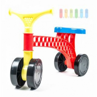 Laufrad von EDDY TOYs aus Kunststoff, standfest, leicht, abwischbar, 4 Räder für erste Versuche, Belastung max. 20 kg