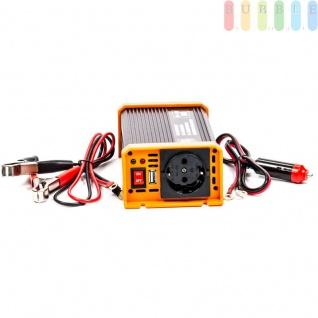 Spannungswandler / Inverter ALL Ride Zigarettenanzünder- und Batterie-Anschluss, Schuko-Steckdose, USB-Buchse, 12V/DCauf230V/AC, 300W