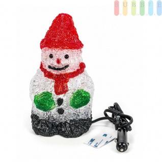 LED-Acryl-Weihnachtsfigur von ALL Ride, 16LEDs, Innendekoration, Höhe ca.20cm, 24V, Schneemann