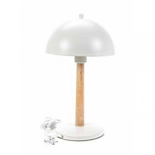 Tischlampe von Grundig, Holz-Metall-Materialmix, Design skandinavisch, Form rund, E27/25W/9W max.