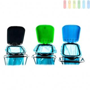 Müllsackständer, mobil, Doppelrahmen, Säcke von 60 bis 130 l Volumen, lieferbar in den Farben Schwarz, Grün oder Blau - Vorschau 4