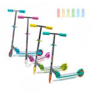 Kinder-City-Roller von EDDY TOYs, klappbar, Bremse hinten, ABEC 5-Kugellager, Größe ca.66 x 9, 5 x 71 cm, lieferbar in den Farben Blau, Türkis, Gelb oder Pink