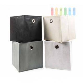 Ablage-/ Regalkörbe mit Zugloch, faltbar, Textilbespannung, formstabil, Größe ca. 28 x 26, 5 x 26, 5 cm, lieferbar in den Farben Schwarz, Weiß, Creme oder Grau