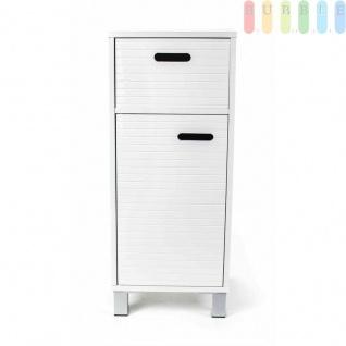 Schubladenschrank von Homestyle, 1 Schublade, 1 Fach mit Tür, Design skandinavisch, Grifflöcher, Höheca.79cm, weiß