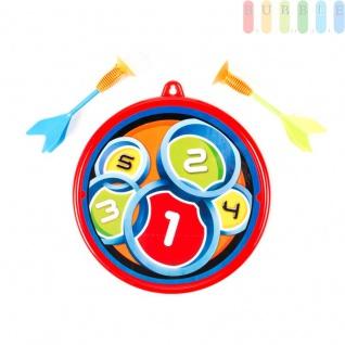 Dart-Spiel-Set 3-teilig für Kinder, Pfeile mit Saugnapf, 2 Pfeile, 1 Scheibe, Größe ca.30cm