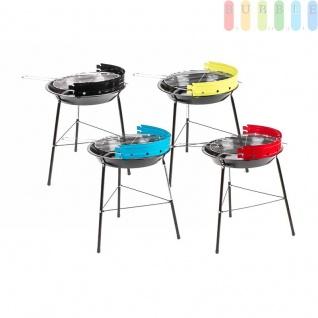 Holzkohle-Kompakt-Grill von BBQ, 2Heizstufen, verchromter Grill-Rost, Griffeabnehmbar