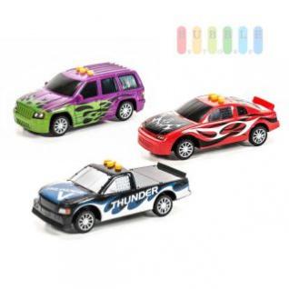 Spielzeugauto von EDDY TOYs mit Sound, Licht und Action auf Knopfdruck, Länge ca. 18/20 cm, Batterien inklusive, lieferbar als Van, Limusine oder Pickup