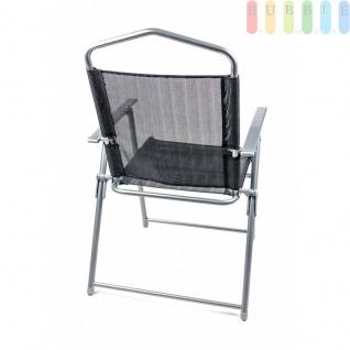 Campingstuhl von Lifetime Garden, Metallgestell, Textilbespannung, Design modern, faltbar, Gewichtca.3, 75kg, Farbe Schwarz - Vorschau 3