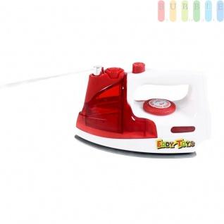 Kinder Bügeleisen Spielzeug mit Licht- und Tonfunktion von EDDY TOYs, Wassertank mit Sprühfunktion, batteriebetrieben