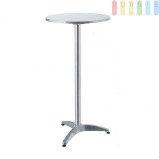 Steh- oder Bistro-Tisch von Lifetime Garden, Tischplatte klappbar, Höhe wählbar, Alu-Design kreismattiert, Größeca.75/114cm x 60cm - Vorschau 3