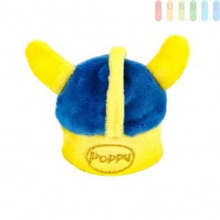 Wikingerhelm aus weichem Stoff für Poppy Lufterfrischer, Deko-Helm für die Flakons-Deckel, in schwedischen Nationalfarben blau, gelb, (H) ca. 7, 8 cm