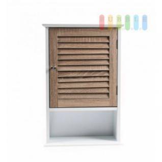 Wandschrank von Homestyle im MDF-Material-Mix, 1 Schrank, Magnetverschluss, 1 Regal, modernes Design, Höhe ca. 60 cm