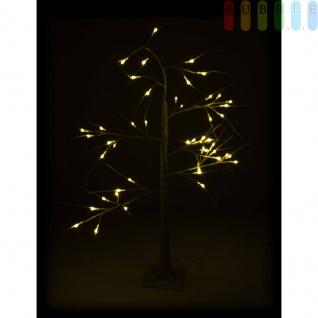 LED-Weihnachtsbaum von Christmas Gifts, biegsame Äste, Fuß fixierbar, 48weißeLEDs, 230V/50Hz, Kabelca.3m, Höheca. 120cm