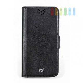 Handytasche für ein iPhone 7 von Cellularline, Flip-Book-Case, Ständerfunktion, Magnetverschluss, schwarz