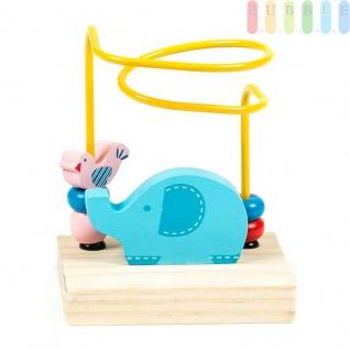 Motorikschleife Mini von Marionette für Kleinkinder, Design Zoo, bunt, 10x 7, 5x14cm, Elefant