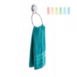 Handtuchhalter rund von Alpina, Montage mit Saugnapf oder Montageplatte, Belastung max. 5 kg, Größe 22 x 15 cm