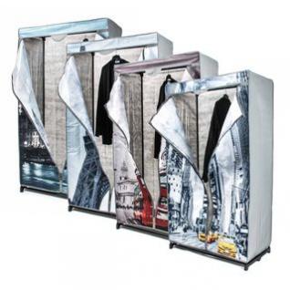 Faltkleiderschrank, 1 Kleiderstange, werkzeuglose Montage, Größe 156 x 87 x 45 cm, lieferbar in 4 Designs
