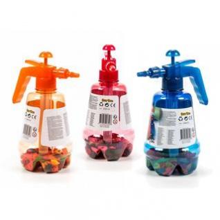 Ballonpumpe mit 100 Ballons von EDDY Toys, Pumpmechanismus mit Ventil, Handling besonders leicht, Höhe ca. 29 cm, lieferbar in den Farben Orange, Rot oder Blau