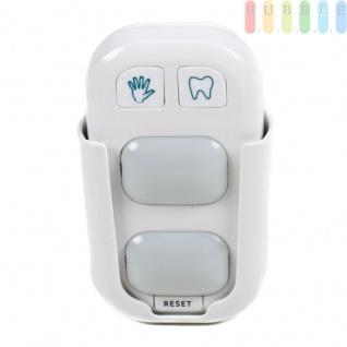 Händewasch und Zähneputz-Assistent von Grundig, Timer, 2 LED-Leuchten, Rest-Taste, Wandhalterung, Batteriebetrieb, ca. 10, 5 cm, weiß