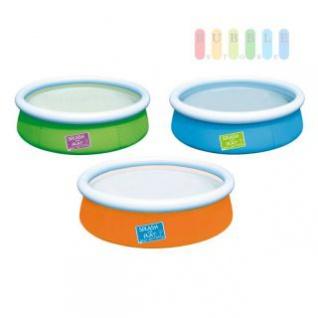 Kinder-Pool von Bestway, selbstaufstellend, Ablassventil, Volumen ca. 477 l, Ø ca. 152 cm, lieferbar in den Farben Blau, Grün oder Orange