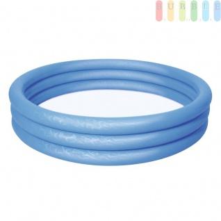 Planschbecken Play Pool für Kinder von Bestway, rund, 3 Ringe, Volumenca.282l, ?ca.152cm, Blau